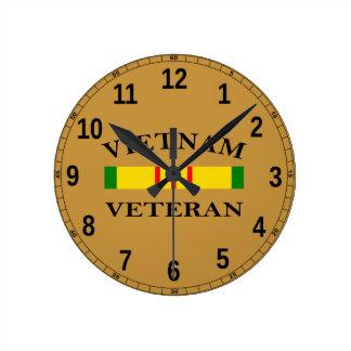 Vietnam-Veteranen-Uhr Runde Wanduhr