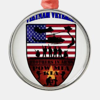 Vietnam Veterans Silbernes Ornament