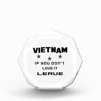 Vietnam, wenn Sie nicht Liebe es tun, verlassen Auszeichnung