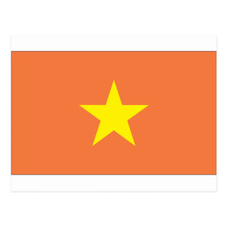 Vietnamesische Flagge Postkarte