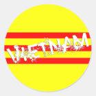 Vietnamesische Flagge (runde Aufkleber) Runder Aufkleber