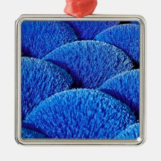Vietnamesische Räucherstäbchen in Blau Quadratisches Silberfarbenes Ornament