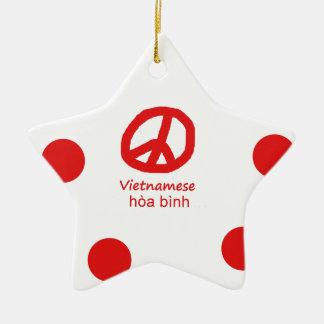 Vietnamesische Sprache und Friedenssymbol-Entwurf Keramik Ornament