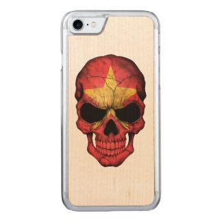 Vietnamesischer Flaggen-Schädel Carved iPhone 8/7 Hülle