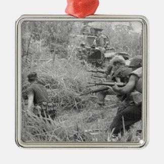 Vietnamkrieg Quadratisches Silberfarbenes Ornament
