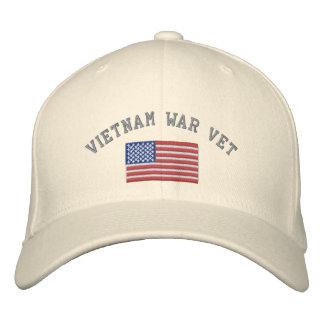 Vietnamkrieg-Tierarzt mit amerikanischer Flagge Bestickte Kappe