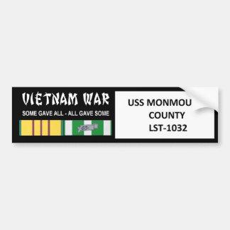 VIETNAMKRIEG-VETERAN USSS MONMOUTH COUNTY AUTOAUFKLEBER