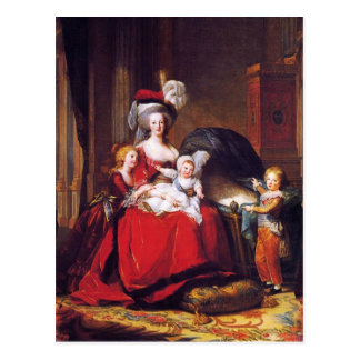Vigée-Lebrun - Marie Antoinette und ihre Kinder Postkarte