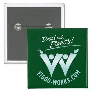Viggo-Arbeiten, die Fan-Logo wellenartig bewegen Quadratischer Button 5,1 Cm