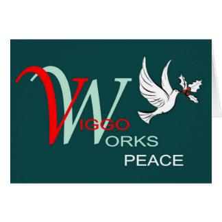 Viggo-Arbeiten Feiertags-Frieden Grußkarte