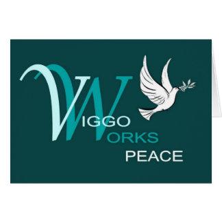 Viggo-Arbeiten Friedenslogo Grußkarte