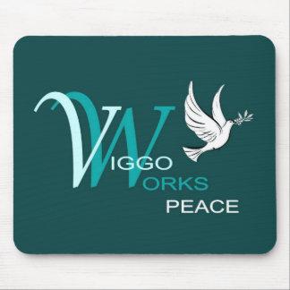 Viggo-Arbeiten Friedenslogo Mauspad