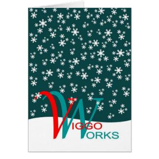 Viggo-Arbeiten Schneeflocken Grußkarte