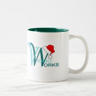 Viggo-Arbeiten Weihnachtsmannmütze Zweifarbige Tasse