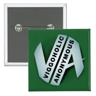 Viggoholic anonymes Grün Quadratischer Button 5,1 Cm