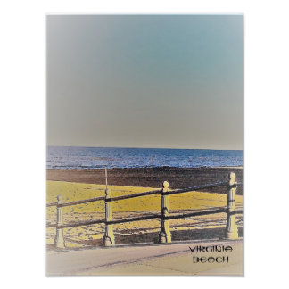 Viginia Strand-Gehweg Fotodruck