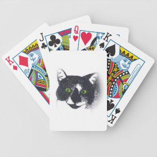 Vignette der Smokings-Katzen-Gesichts-Spielkarten Bicycle Spielkarten