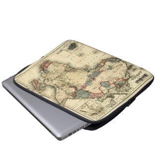 Viintage 1874 Karte antiken afrikanischen Druckes Laptop Schutzhüllen