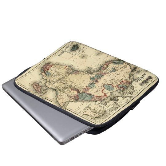 Viintage 1874 Karte antiken afrikanischen Druckes Laptop Sleeve