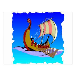 Viking-Galeeren-Schiff   #002 Postkarte