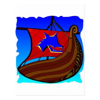 Viking-Galeeren-Schiff   #003 Postkarte