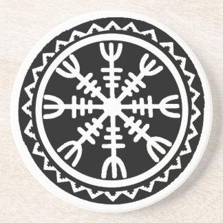 Viking-Helm der Ehrfurcht Getränke Untersetzer