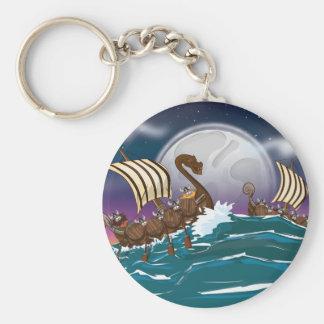 Viking-Invasions-Flotte Schlüsselanhänger