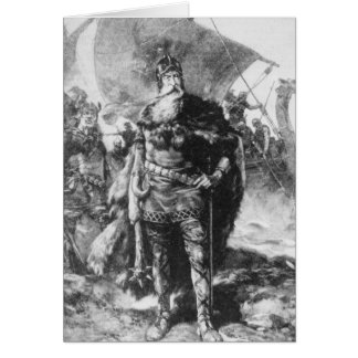 Viking-Krieger Grußkarte