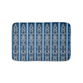 Viking-Muster-Blau Badematten