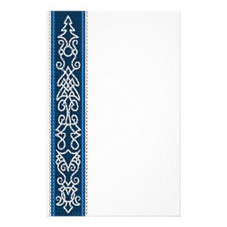 Viking-Muster-Blau Briefpapier