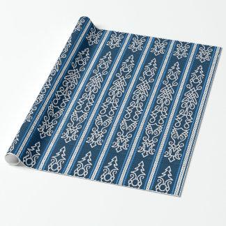 Viking-Muster-Blau Geschenkpapier
