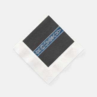 Viking-Muster-Blau Papierserviette