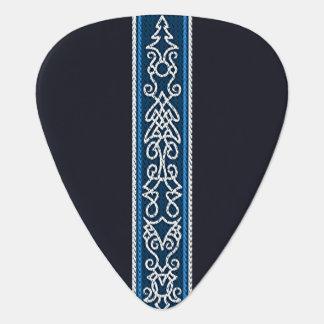 Viking-Muster-Blau Plektron