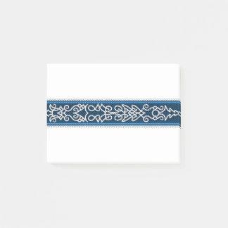 Viking-Muster-Blau Post-it Klebezettel