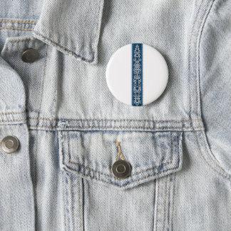 Viking-Muster-Blau Runder Button 5,1 Cm