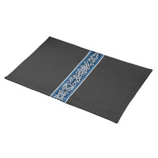 Viking-Muster-Blau Tischset