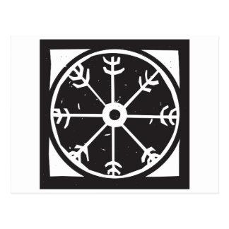 Viking-Radsymbol Postkarte