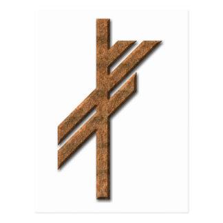 Viking-Rune - Glück - Rost Postkarte