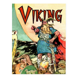 Viking-Skandinavier-Götterthor-Viking-Schiff Postkarte