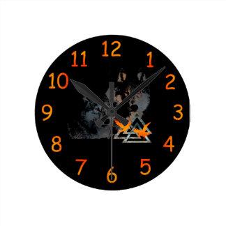 Viking-Wolf-Uhr Runde Wanduhr