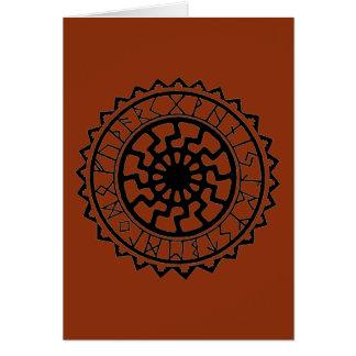 VikingCelticsun-Rune-Kalender Grußkarte