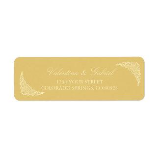 Viktorianisch, elegant, Goldadressen-Etiketten