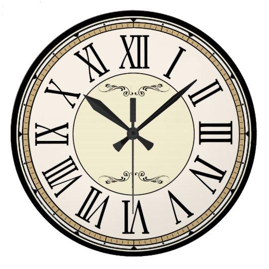 Viktorianische Antike Römische Zahl Uhr Große Wanduhr Zazzlede