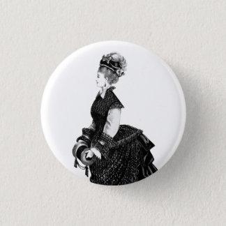 Viktorianische Dame mit Geschäftigkeits-Abzeichen Runder Button 3,2 Cm