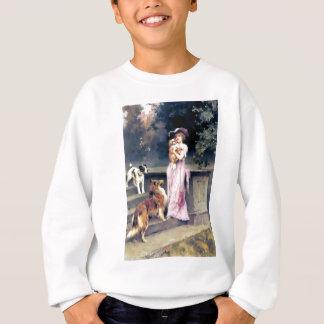 Viktorianische Dame mit Hundehaustieren Sweatshirt