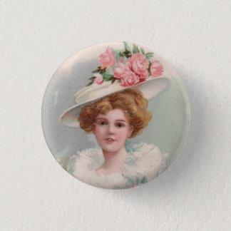 Viktorianische Dame Runder Button 3,2 Cm