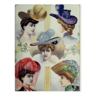 Viktorianische Dame - Vintage französische Mode - Postkarte
