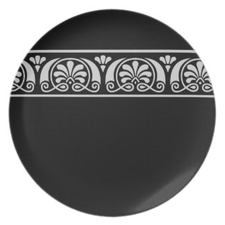 Viktorianische dekorative Platte Flacher Teller