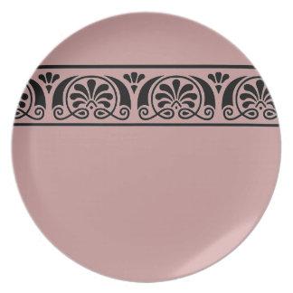 Viktorianische dekorative Platte Teller
