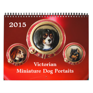 VIKTORIANISCHE EMAIL-/MINIATURE-HUNDEporträts 2017 Abreißkalender